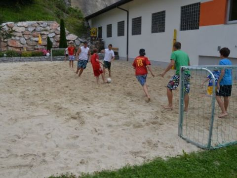Action im Sand in der Jugendpension Müllauerhof